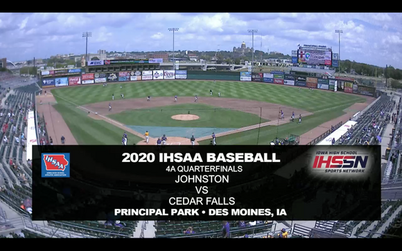 2020 Baseball Class 4A Quarterfinal (Johnston vs. Cedar Falls) Digital Download
