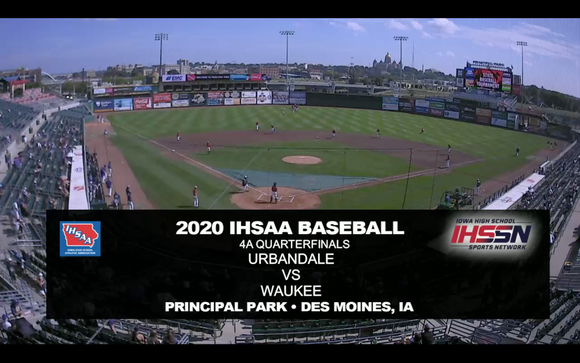 2020 Baseball Class 4A Quarterfinal (Urbandale vs. Waukee) Digital Download