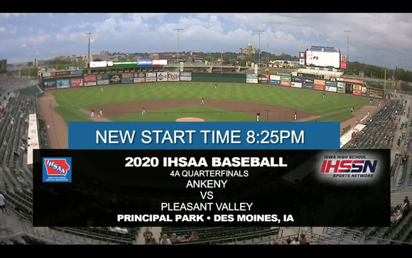 2020 Baseball Class 4A Quarterfinal (Ankeny vs. Pleasant Valley) Digital Download