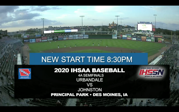 2020 Baseball Class 4A Semifinal (Johnston vs. Urbandale) Digital Download