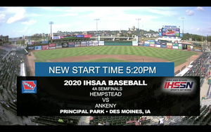 2020 Baseball Class 4A Semifinal (Ankeny vs. Dubuque) Digital Download