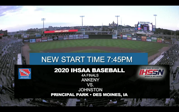 2020 Baseball Class 4A Championship (Johnston vs. Ankeny) Digital Download