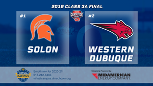 2019 Football Class 3A Championship Solon vs. Western Dubuque, Epworth) Digital Download
