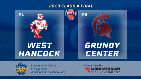 2019 Football Class A Championship (West Hancock vs. Grundy Center) Digital Download