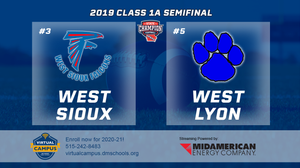 2019 Football Class 1A Semifinal (West Sioux, Hawarden vs. West Lyon, Inwood) Digital Download