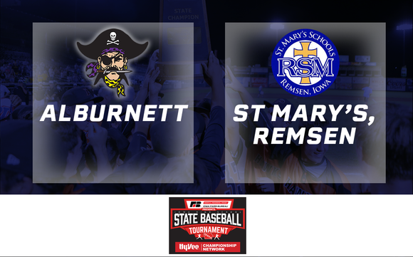 2019 Baseball Class 1A Semifinal (Alburnett vs. St. Mary's, Remsen) - Digital Download