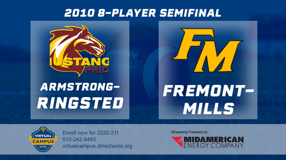 2010 Football 8-Player Semifinal (Armstrong-Ringsted vs. Fremont-Mills, Tabor) Digital Download