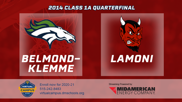 2014 Basketball Class 1A Quarterfinal (Belmond-Klemme vs. Lamoni) Digital Download