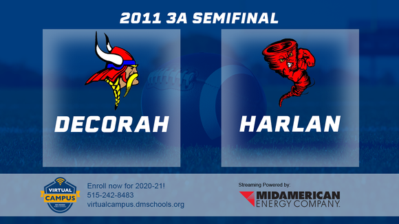 2011 Football Class 3A Semifinal (Harlan vs. Decorah) Digital Download