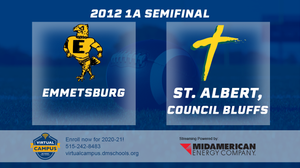 2012 Football Class 1A Semifinal (Emmetsburg vs. St. Albert, Council Bluffs) Digital Download