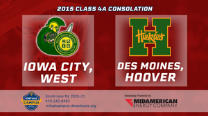 2015 Basketball Class 4A Consolation (Iowa City, West vs. Des Moines, Hoover) Digital Download