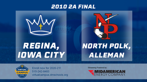 2010 Football Class 2A Championship (Regina, Iowa City vs. North Polk, Alleman) Digital Download