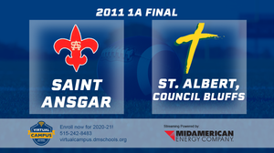2011 Football Class 1A Championship (Saint Ansgar vs. St. Albert, Council Bluffs) Digital Download