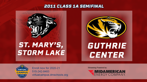 2011 Basketball Class 1A Semifinal (St. Mary's, Storm Lake vs. Guthrie Center) Digital Download