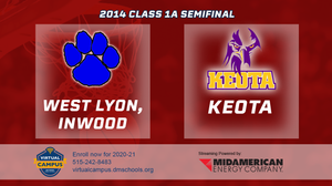 2014 Basketball Class 1A Semifinal (West Lyon, Inwood vs. Keota) Digital Download