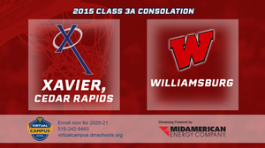 2015 Basketball Class 3A Consolation (Xavier, Cedar Rapids vs. Williamsburg) Digital Download