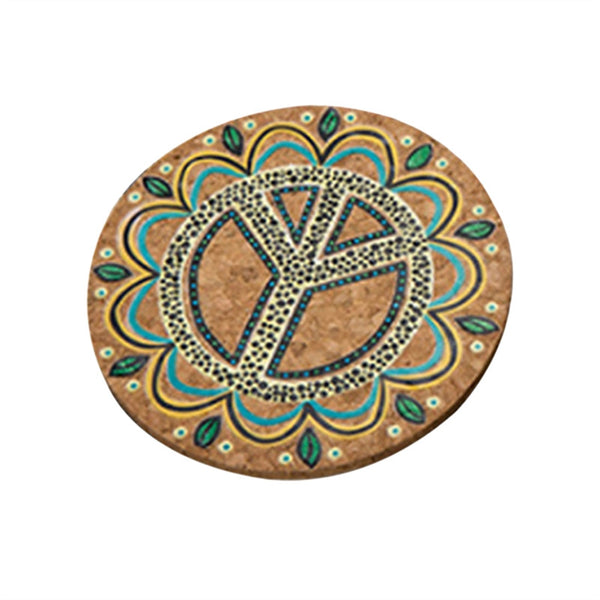 1 Pc Round Natural Cork Coaster, Heat Resistant