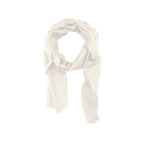 Cream AUTHENTIC cashmere scarf by Ethical Cashmere product image