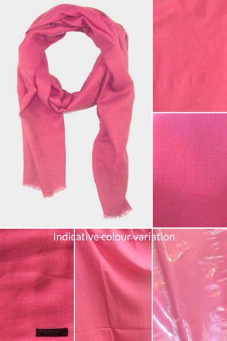 Colour perception variations of the same Princess Pink AUTHENTIC pashmina scarf by Ethical Cashmere