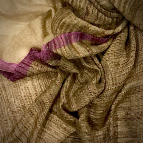 Natural dye handwoven fine cashmere shawl
