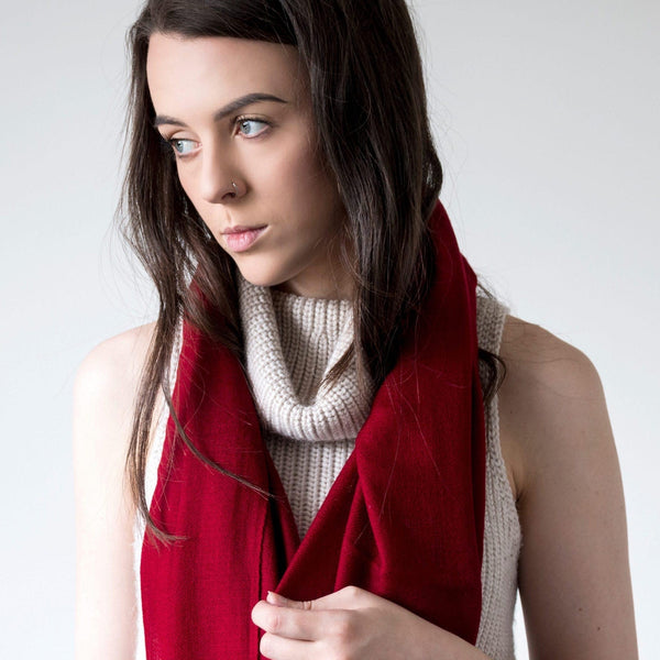 100% Cashmere Large Scarf | EVERYDAY VIBRANTS-Scarf-EthicalCashmere