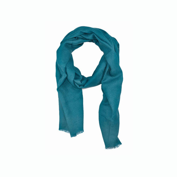 EthicalCashmere-100% Cashmere Large Scarf | EVERYDAY Vibrants-Scarf-PEACOCK Blue-autumn, Nepal, scarf, shawl, spring, weave:diamond, wrap