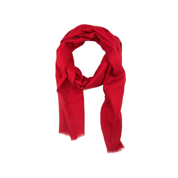 EthicalCashmere-100% Cashmere Large Scarf | EVERYDAY Vibrants-Scarf-PEPPER Dark Red-autumn, Nepal, scarf, shawl, spring, weave:diamond, wrap