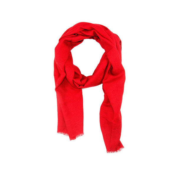 EthicalCashmere-100% Cashmere Large Scarf | EVERYDAY Vibrants-Scarf-SCARLET Red-autumn, Nepal, scarf, shawl, spring, weave:diamond, wrap