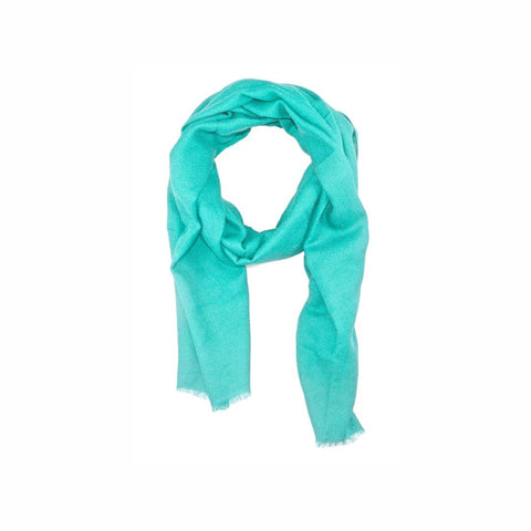 EthicalCashmere-100% Cashmere Large Scarf | EVERYDAY Vibrants-Scarf-TURQUOISE Blue-autumn, Nepal, scarf, shawl, spring, weave:diamond, wrap