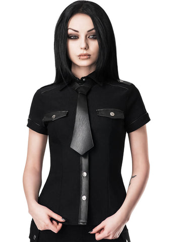 Killstar Squadron 80's Top Blouse Black