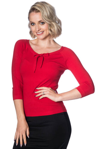 Banned Pretty Illusion Top Red