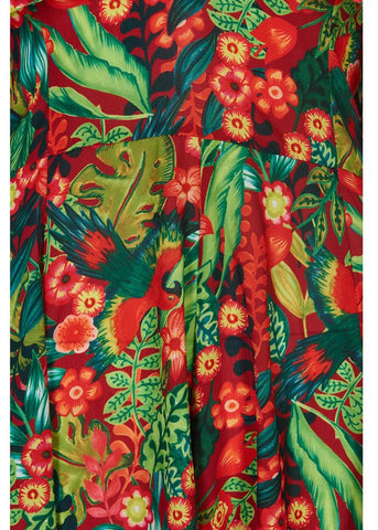 Bright & Beautiful Tina Tropical Paradise 70's Playsuit Multi Colour