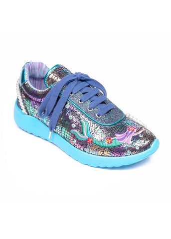 Irregular Choice Mermazing Sneakers Blue