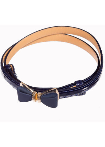 Banned Ocean Avenue Belt Navy Blue