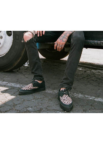 T.U.K Leopard Pointed Vegan Creepers Brown