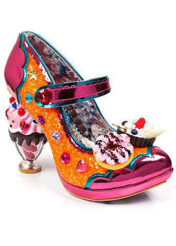 Irregular Choice Ice & Slice Pumps Orange