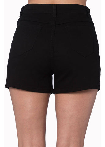 Banned Bell Tower Bat Shorts Black