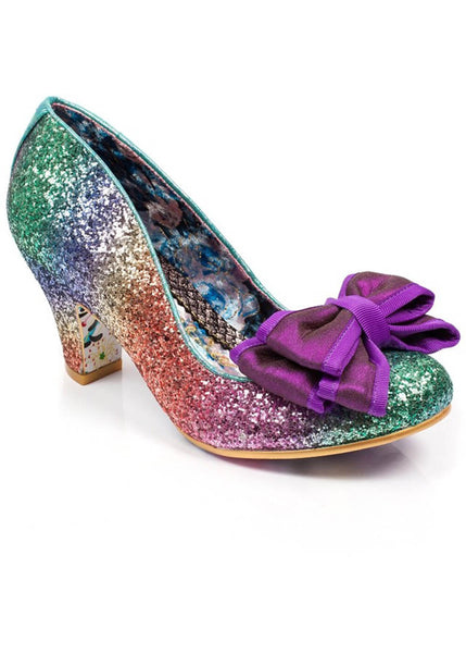 Irregular Choice Lady Ban Joe Glitter Pumps Rainbow
