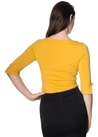Banned Oonagh 50's Top Mustard