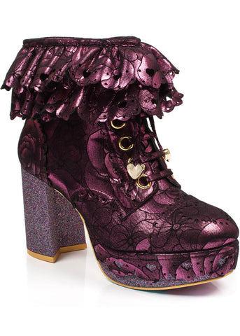 Irregular Choice Frilly Knickers Booties Pink
