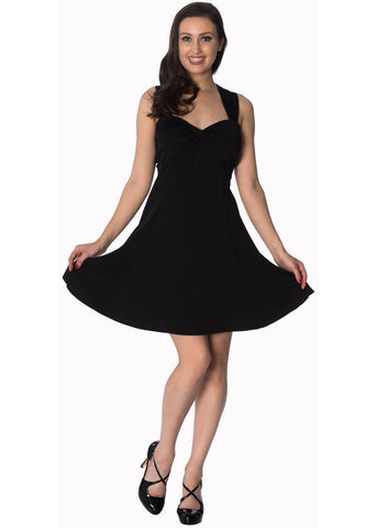 Banned It's The Twist Strappy 60's Dress Black