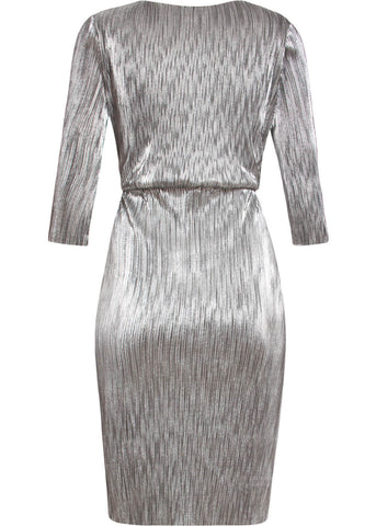 Smashed Lemon Sparkling Party 60's Dress Silver