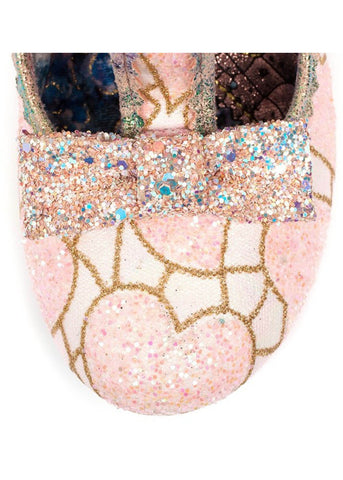 Irregular Choice Lazy River Glitter Heels pink