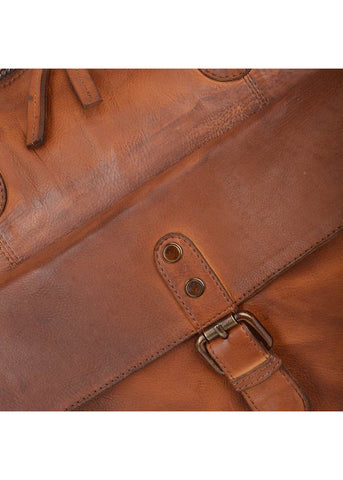 Ashwood Ronin Leather Weekend Travel Bag Brown