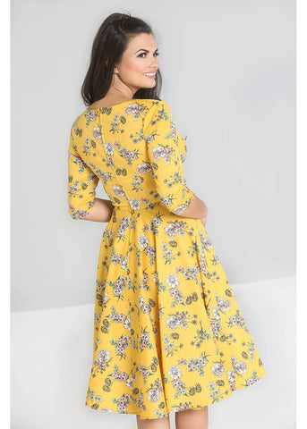 Hell Bunny Muriel 50's Swing Dress Mustard