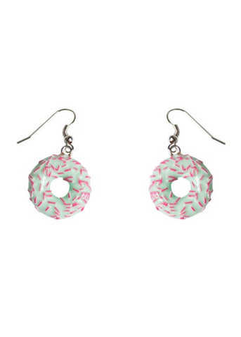 Collectif Donut Drop Earrings Green