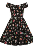 Hell Bunny Lovebird Mid 50's Swing Dress Black