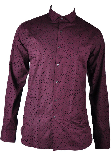 Club of Gents Saville Row Henno Dots Shirt Bordeaux
