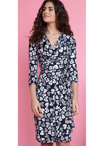 Onjenu Pitot Corazon 70's Dress Navy
