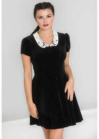 Hell Bunny Interstellar 60's Short Dress Black